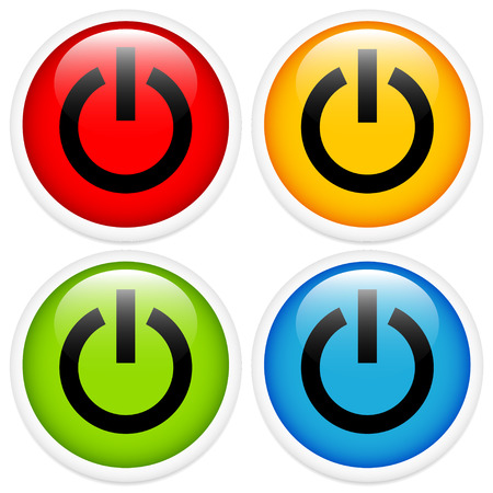 getting started: Glossy power button icon set
