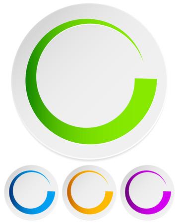 Circular preloader, buffer symbol or general circle emblem, circle graphics