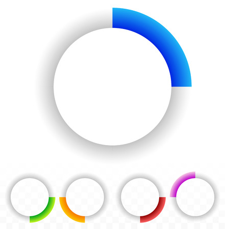 progressbar: Circular preloader, buffer symbol or general circle emblem, circle graphics