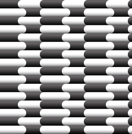 Seamless background made of rounded rectangles Vector