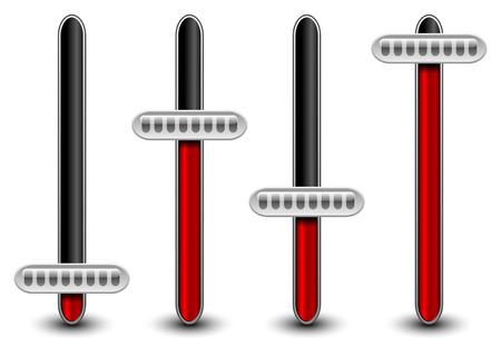 Verticaal-experts, potentiometers van equalizer Vector Illustratie