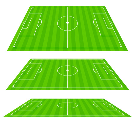 sideline: 3d Soccer field planes Illustration