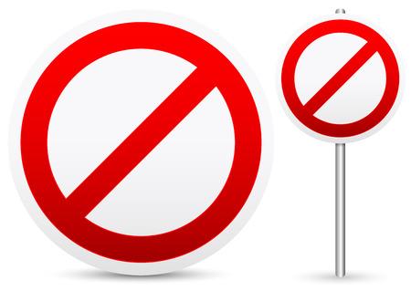 disallow: No entry, stop, forbidding concept signs