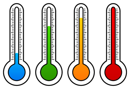 glass thermometer: Thermometer graphics