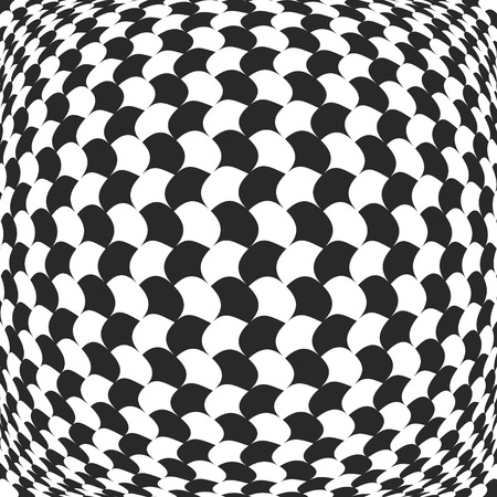 torsion: Abstract checkered background with distortion