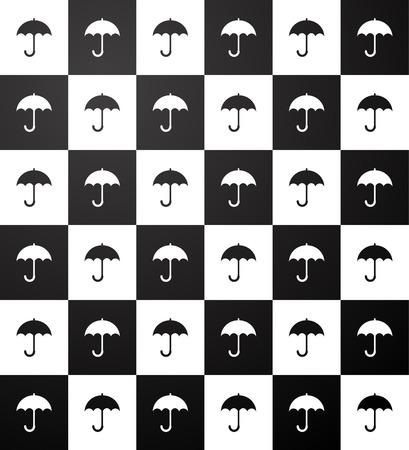 meteorological: Umbrella pattern Illustration
