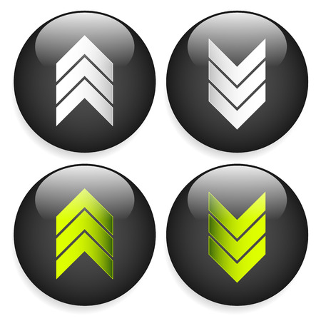 triple: Stylish download and upload arrows or triple arrows for general up down concepts
