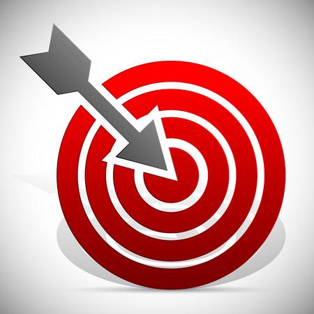golpeando: Arrow golpear objetivo Vectores