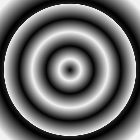 unnatural: Disc with radial gradient over background. Circle, circular background with unnatural contrast.