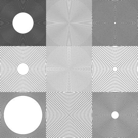 hypnotize: Abstract circle elements, backgrounds.