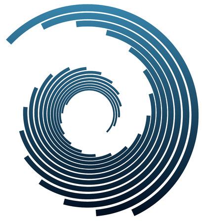 concentric circles: Bars twisting in circular fashion Illustration