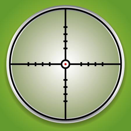Crosshair, reticle graphics Illustration