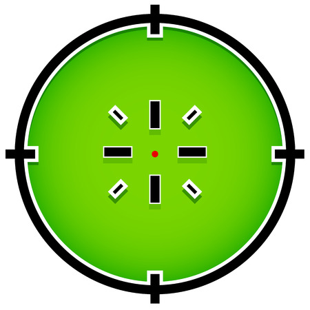 Crosshair, reticle graphics Vector