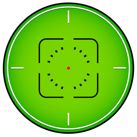 backsight: Crosshair, reticle graphics Illustration