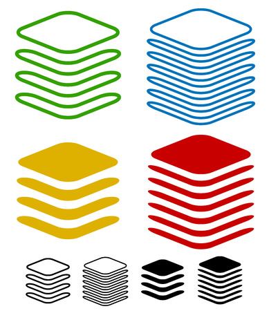 multi layered: Layers graphics Illustration