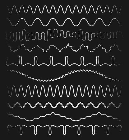 sinuous: Set of wavy, sinuous lines
