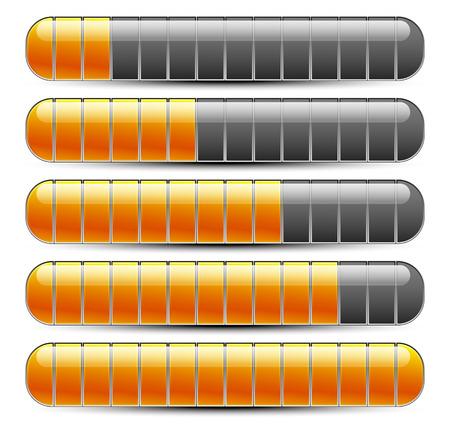 Horizontal bars, loading bars Vector