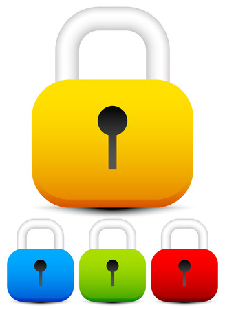 Padlock icons, padlock graphics on white. vector. Illustration