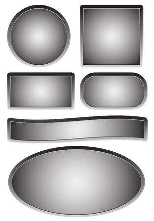 signboard form: Empty plates, plaques Illustration