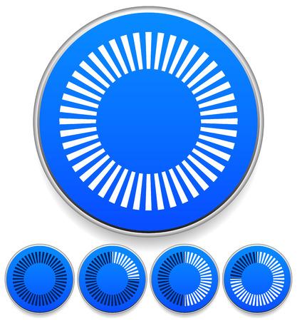 segmented: Circular preloader, buffer symbol or general circle emblem, circle graphics