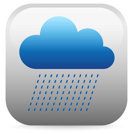 meterology: Raincloud icon Illustration