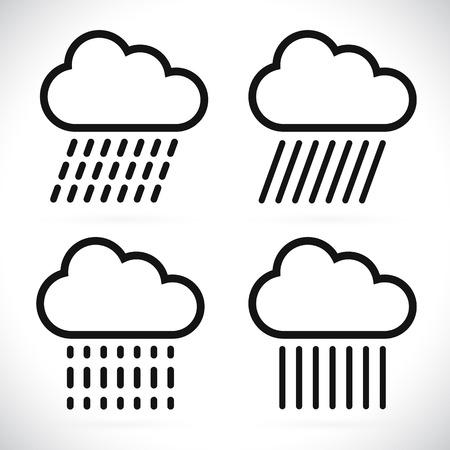 meterology: Raincloud symbols