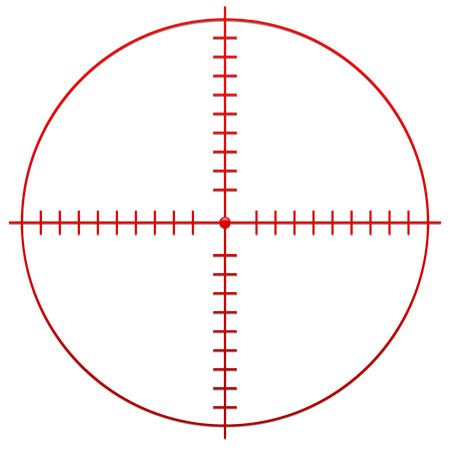 gun sight: Crosshair, reticle