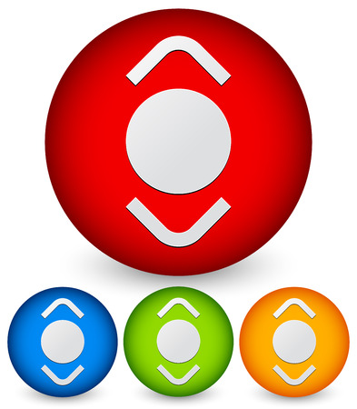 adjuster: Scroll button. Scroll up, down in one symbol Illustration