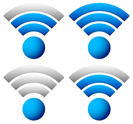 wireless technology: Signal graphics for wireless technology, transmitting concepts