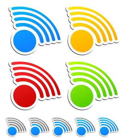 Signal graphics for wireless technology, transmitting concepts Vector