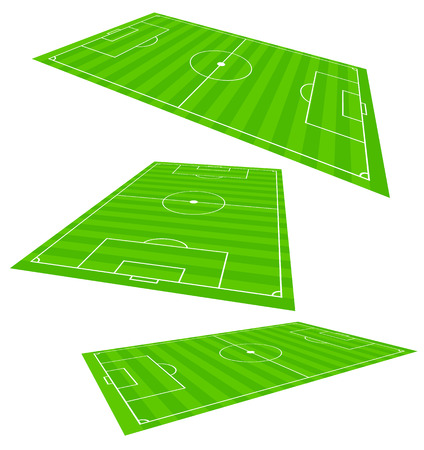 3d Soccer field planes Stock Illustratie