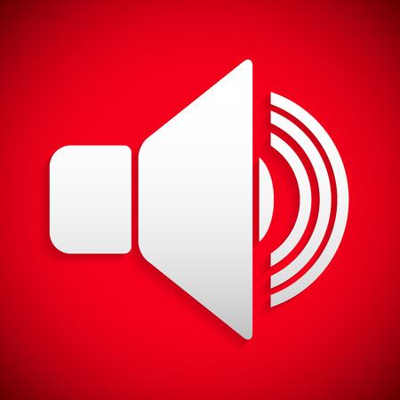 contaminacion acustica: Icono del altavoz rojo