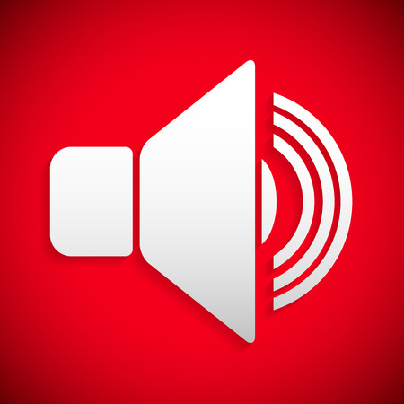 Red speaker icon Vector