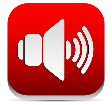 noise pollution: Red speaker icon