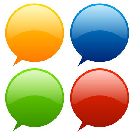 Speech, talk bubbles, balloons Vector