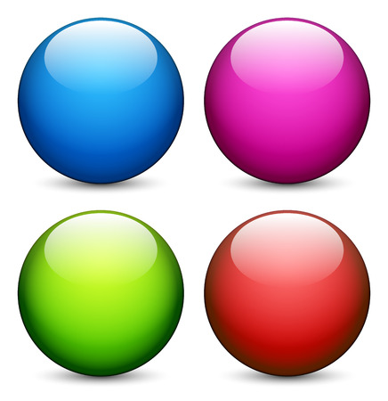 Colorful, shiny spheres Vector