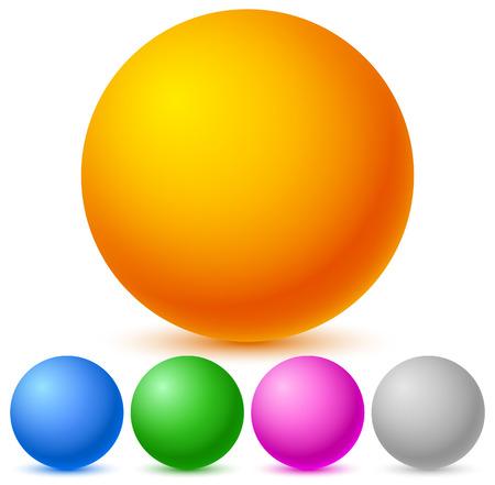 spherule: Colorful, shiny spheres Illustration