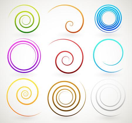 twirls: Colorful spirals, twirls