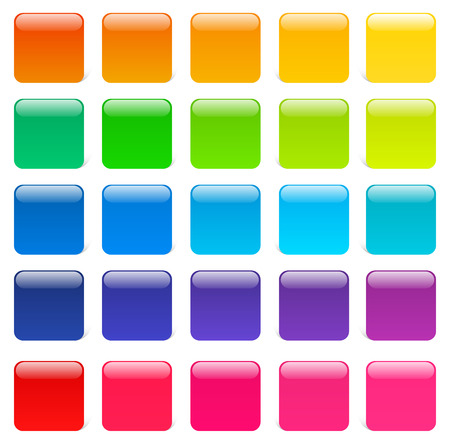 Glossy and colorful squares Vector