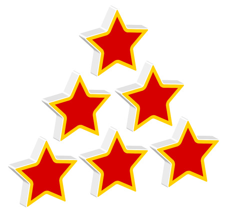 valuation: Red stars in triangle composition