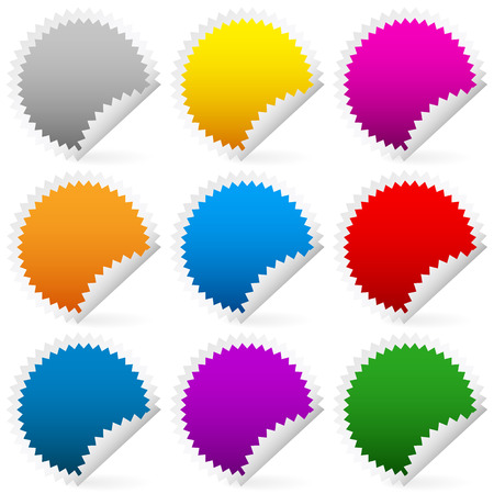 adhesion: Colorful vector stickers Illustration