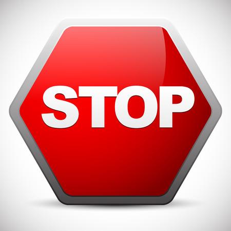 No entry, stop, forbidding concept signs Vector