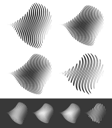 Distorted abstract wavy lines Illustration