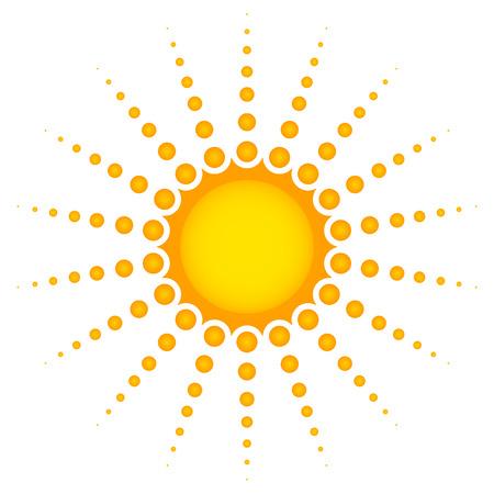 Sun vector clip-art Vector