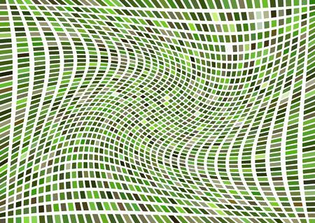 hypnotism: Rotaci�n abstracta rejilla verde Vectores