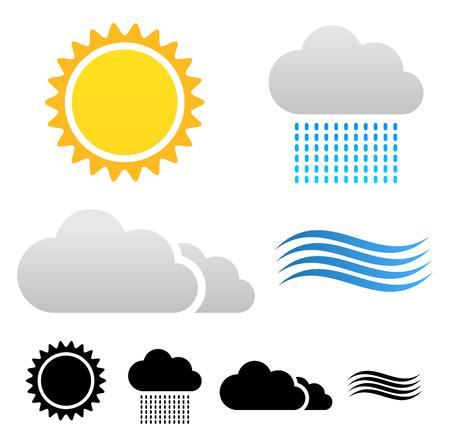 meterology: Weather icons Illustration