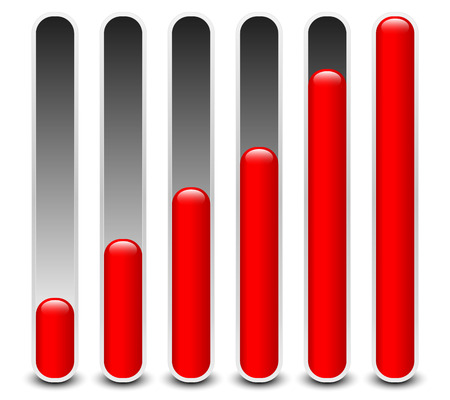 Stylish loading bars, meters, benchmark or level indicator elements. vector. Vector