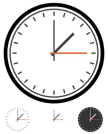 around the clock: Clock, clockface vector. Time, schedule vector