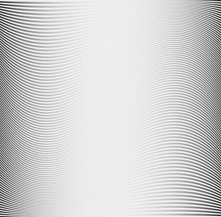 Metallic texture or pattern with thin wavy lines. Grey background Stock Illustratie