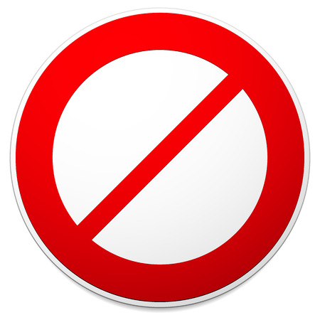 Deny, do not, prohibition sign. Restriction, no entry, no way vector graphics Vector